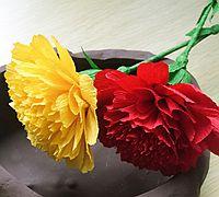康乃馨皱纹纸花的制作方法