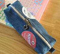 旧牛仔裤改造实用笔袋教程