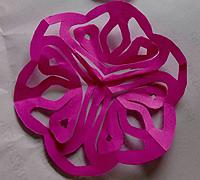 美美哒剪纸小花朵简单剪法