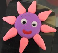 粘土制作灿烂的笑脸小太阳