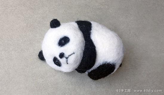 超萌的熊猫宝宝,简单易学,很是可爱爱的哦!
