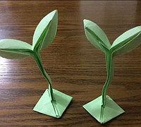 萌萌的绿芽折纸教程图解