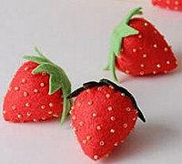 可爱的不织布小草莓做法步骤图
