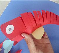 会动的纸鱼简单制作步骤