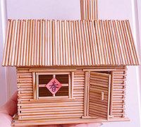 牙签制作小木屋模型教程图解