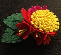 简单美丽的不织布头花制作教程