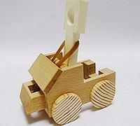 用木块制作无敌投石车小玩具