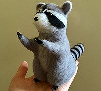 羊毛毡小浣熊的制作步骤