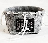不织布编织实用收纳篮