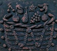 复古风水果篮子粘土浮雕装饰画教程