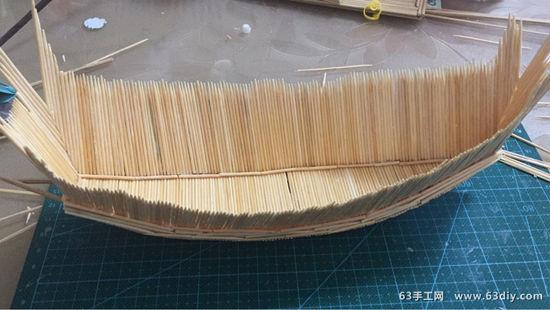 牙签制作帆船的图解步骤