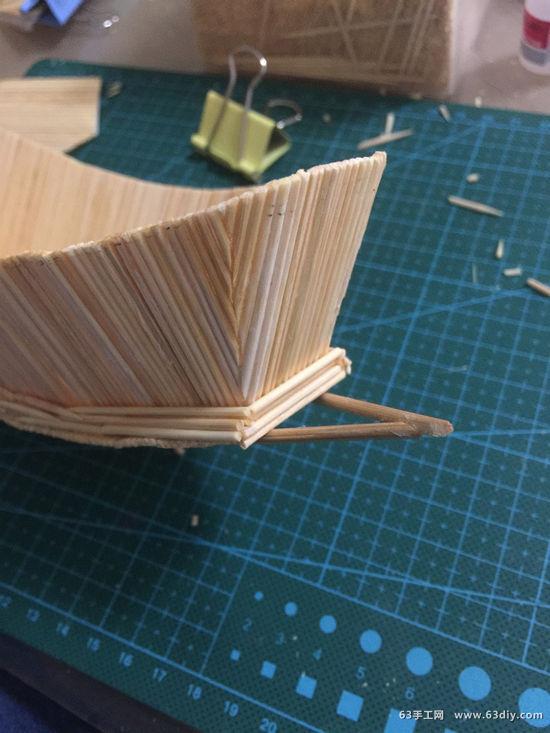 牙签制作帆船的图解步骤_63手工网