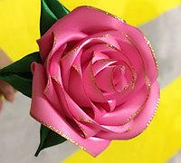 手工制作丝带玫瑰花教程