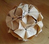 立体纸花球折纸教程