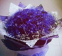 蓝色妖姬的皱纹纸制作教程