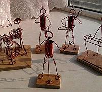 小小音乐家 绕线小人偶的制作步骤
