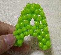 英文字母A的串珠制作方法