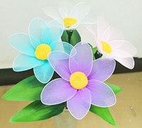 简单清新的丝网花小野菊做法