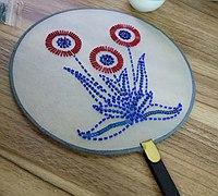 珠绣团扇教程 珠绣的方法