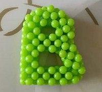 英文字母B的串珠制作方法