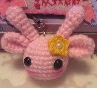 粉粉的小鹿头的钩针编织方法