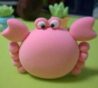 可爱的粘土小螃蟹制作教程