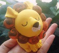 可爱的粘土小狮子制作图解