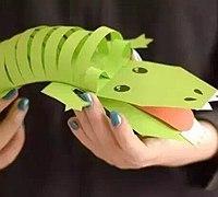 卡纸制作可爱小鳄鱼