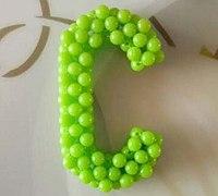 英文字母C的串珠制作方法