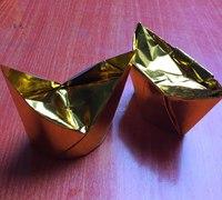 金元宝的折法 折纸元宝教程