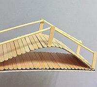 冰棍棒变废为宝制作带感小拱桥