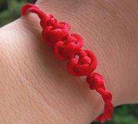 中国结红豆手链的编法
