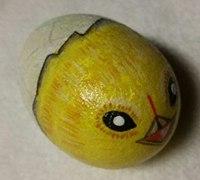 石头画之出壳的小鸡