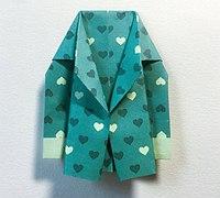 西装的折法 折纸西装教程
