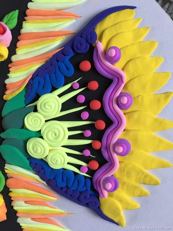 点线面装饰画_用粘土制作一条美丽的热带鱼_63手工网