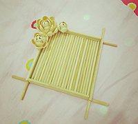 一次性筷子和开心果壳diy置物小碟