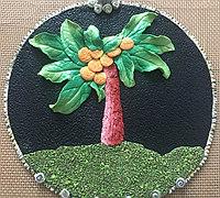 粘土画-椰子树