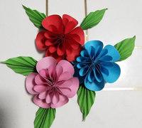 彩色纸樱花的折法 樱花折纸教程