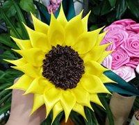 缎带向日葵的制作方法 丝带花教程