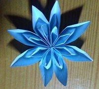 八角花折纸教程