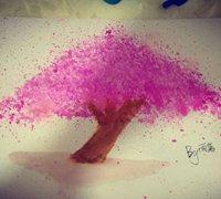零基础手绘樱花树的教程