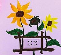 手绘向日葵开关装饰