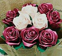 缎带玫瑰花diy教程