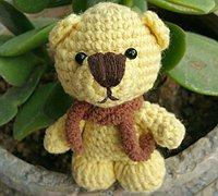 可爱毛线小熊的编织教程