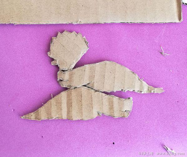 瓦楞纸制作立体恐龙小模型_63手工网