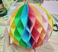好看的折纸彩球diy教程