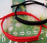 简单漂亮的红绳手链编法图解