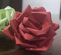 超简单的纸艺玫瑰花做法