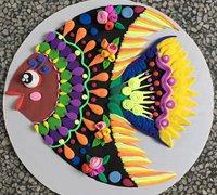 漂亮的纸盘粘土热带鱼制作教程