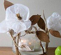 白色花朵烛台diy教程